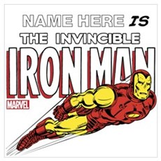 Personalized Invincible Iron Man Wall Art Poster