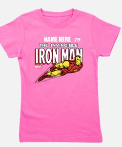 Personalized Invincible Iron Man Girl's Tee