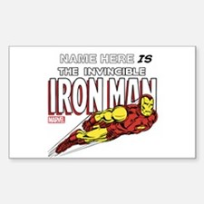 Personalized Invincible Iron M Decal