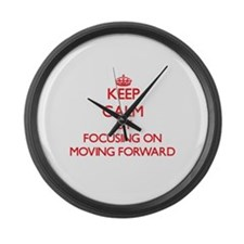 Keep Calm by focusing on Moving F Large Wall Clock