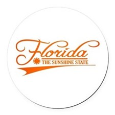 Florida State of Mine Round Car Magnet
