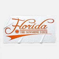 Florida State of Mine Beach Towel