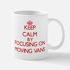 Keep Calm by focusing on Moving Vans Mugs