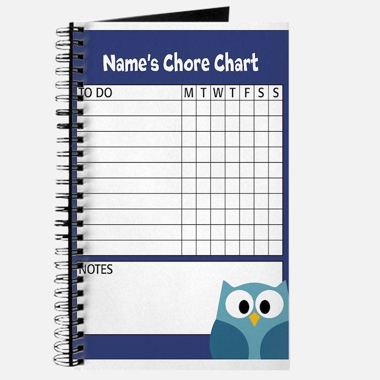 Owl Chore Chart Blue Journal
