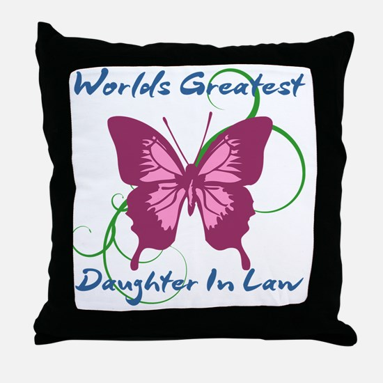 World's Greatest Daughter-In-Law Throw Pillow