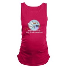 stork baby greece white 2.psd Maternity Tank Top