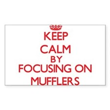 Keep Calm by focusing on Mufflers Decal