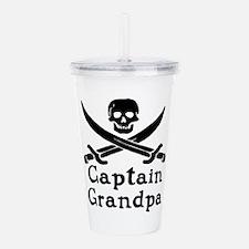 Captain Grandpa Acrylic Double-Wall Tumbler