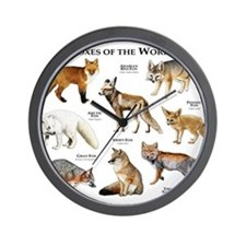 Foxes of the World Wall Clock