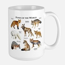 Foxes of the World Large Mug