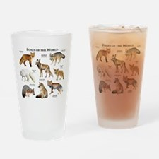 Foxes of the World Drinking Glass