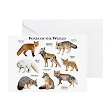 Foxes of the World Greeting Card