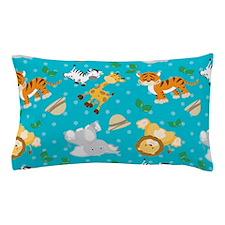 Cute Safari Animal Print Pillow Case