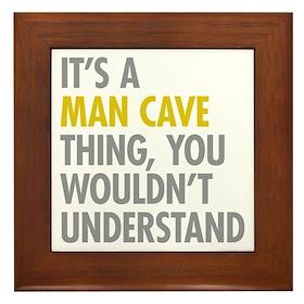 Man Cave Thing Framed Tile