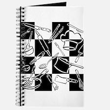 Kitchen Tools Checkerboard Journal