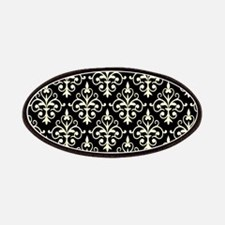 Cream & Black Damask 41 Patches
