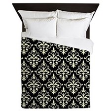 Cream & Black Damask 41 Queen Duvet