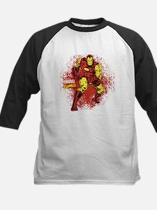 Iron Man Fist Kids Baseball Jersey