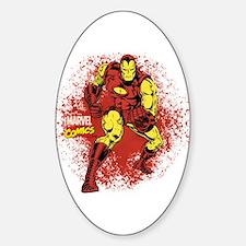Iron Man Fist Sticker (Oval)