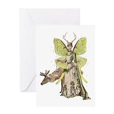 Reindeer Guardian Angel Card Greeting Cards