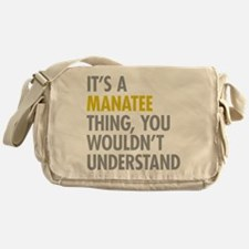 Its A Manatee Thing Messenger Bag