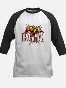 Iron Man Flying Kids Baseball Jersey