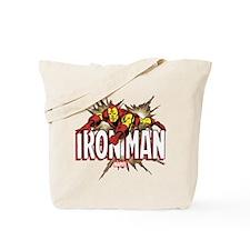 Iron Man Flying Tote Bag