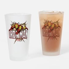Iron Man Flying Drinking Glass