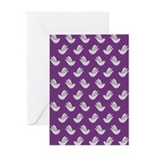 Decorative Doves on Lavender Greeting Cards