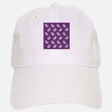Decorative Doves on Lavender Baseball Baseball Cap