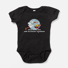 stork baby ecu white 2.psd Baby Bodysuit