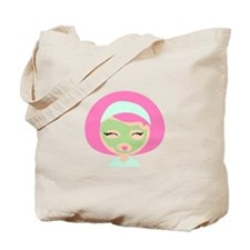 Womans Face Mask Tote Bag