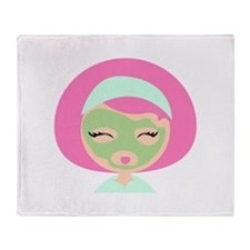 Womans Face Mask Throw Blanket