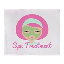 Spa Treatment Throw Blanket
