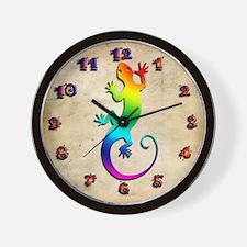 Rainbow Gecko Wall Clock
