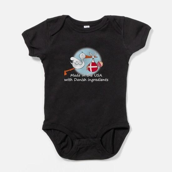 stork baby den white 2.psd Baby Bodysuit