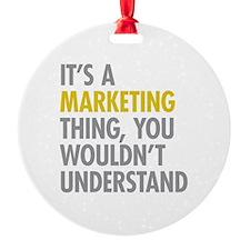 Marketing Thing Ornament
