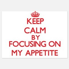 Keep Calm by focusing on My Appetite Invitations
