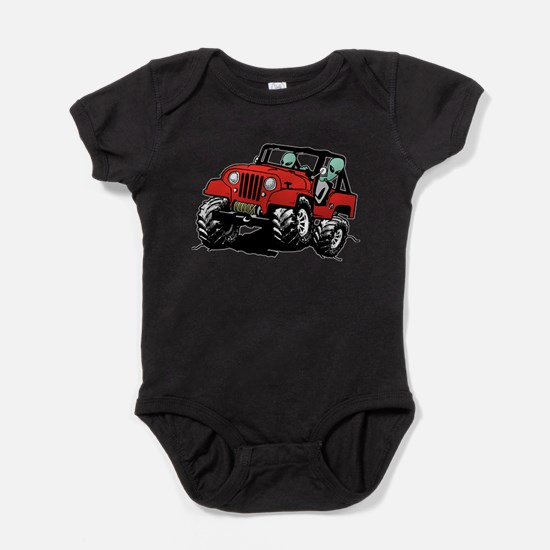 Funny 4x4 Rock Crawler Aliens Baby Bodysuit