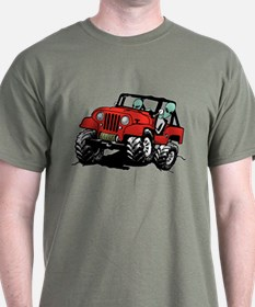 Funny 4x4 Rock Crawler Aliens T-Shirt