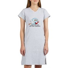 stork baby czech 2.psd Women's Nightshirt