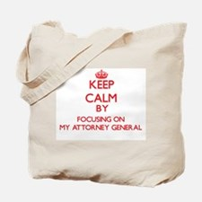 Keep Calm by focusing on My Attorney Gene Tote Bag