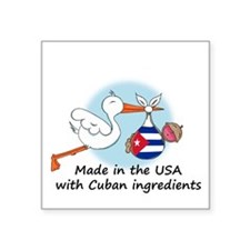 Stork Baby Cuba USA Sticker