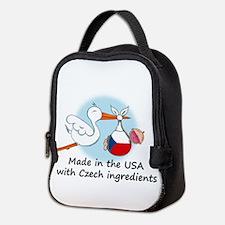 stork baby czech 2.psd Neoprene Lunch Bag