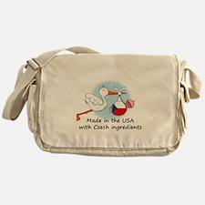 stork baby czech 2.psd Messenger Bag