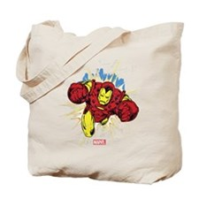 Grunge Iron Man Tote Bag