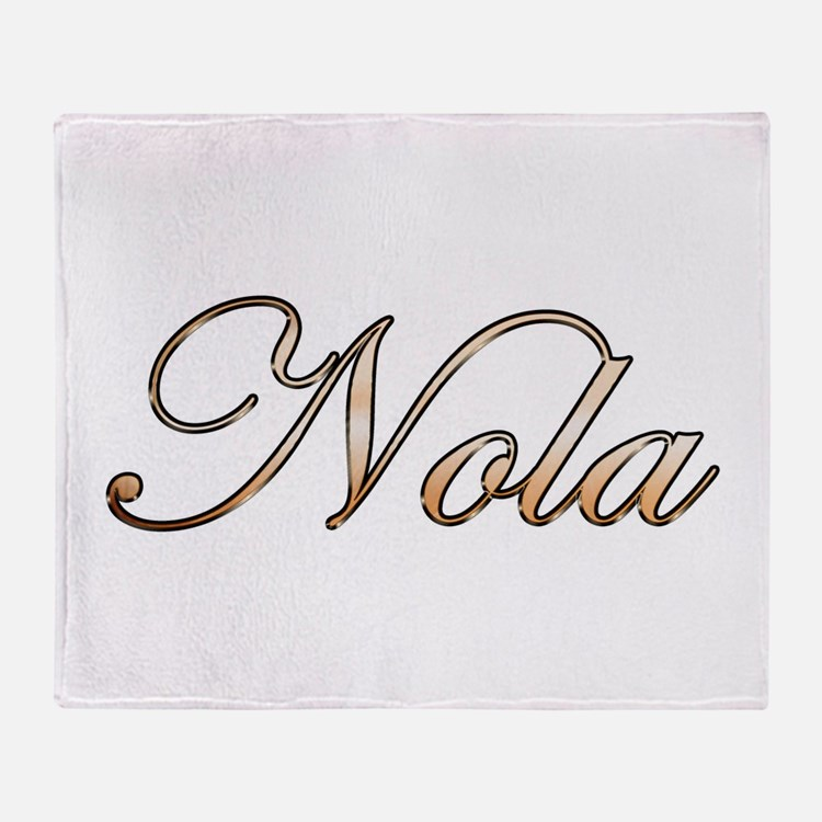 Gold Nola Throw Blanket