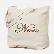 Gold Nola Tote Bag