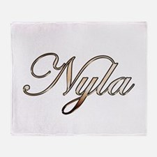 Gold Nyla Throw Blanket