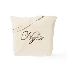 Gold Nyla Tote Bag